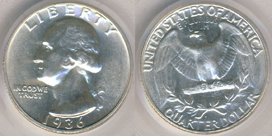 1936 Proof Washington Quarter